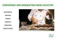 CONFERENCE AND BANQUETING MENU SELECTOR - Vale Resort