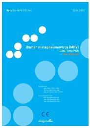 Human metapneumovirus (MPV) - Diagenode Diagnostics