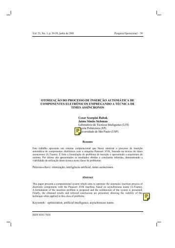 OTIMIZAÇÃO DO PROCESSO DE INSERÇÃO ... - PCS - USP
