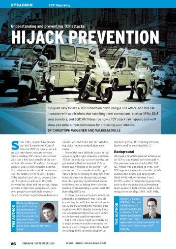 HIJACK PREVENTION - Linux Magazine