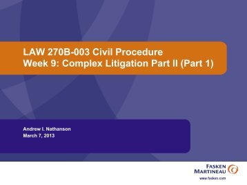 Week 9 - University of British Columbia Faculty of Law