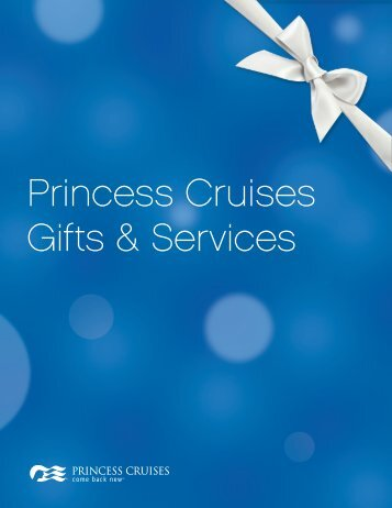 Princess Cruises Gifts & Services - OneSource - Princess Cruises