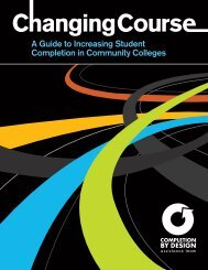 A Guide to Increasing Student Completion in Community Colleges