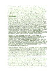 Jahresbericht 2008 von Sven Thanheiser, dem Vorsitzenden der ...