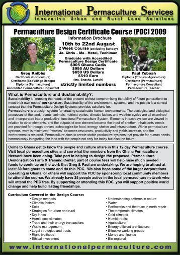 Permaculture Design Certificate Course (PDC) 2009