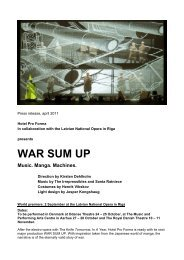 WAR SUM UP - Hotel Pro Forma