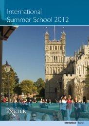 International Summer School 2012
