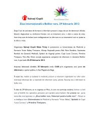 Ziua Internaţională a Bolilor Rare - Salvati Copiii