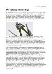 Die Schanze ist erste Liga - Skiclub Hinterzarten
