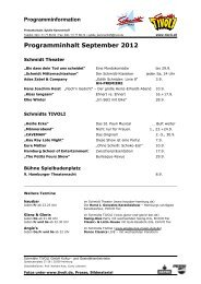 Programminformation - Schmidts Tivoli
