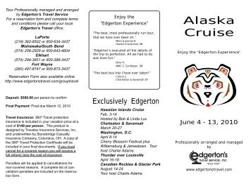 2010 Alaska Cruise - Edgerton's Travel