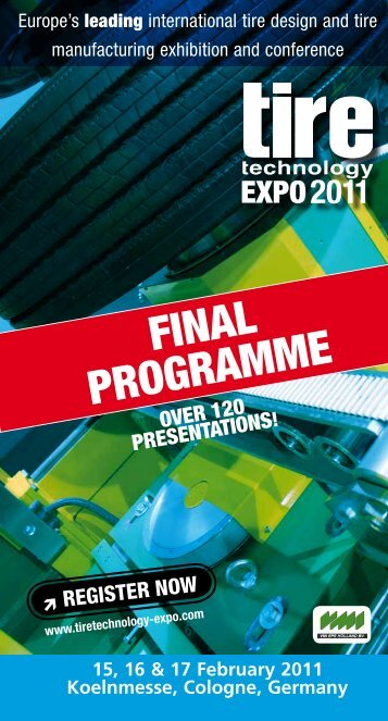 FINAL PROGRAMME - Tire Technology Expo