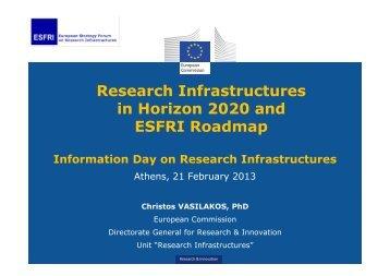 Research Infrastructures in Horizon 2020 and ESFRI Roadmap