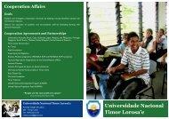 Universidade Nacional Timor Lorosa'e - MUNDUS ACP II