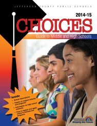 Choices - Jefferson County Public Schools - Kentucky Department of ...