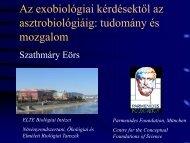 Növényrendszertani, Ökológiai és Elméleti Biológiai Tanszék