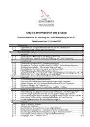 Aktuelle Informationen aus Brüssel - Brandenburg, Europa und die ...