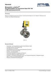 Datenblatt EVZ100 deutsch - METRA Energie