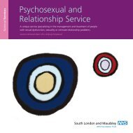 Psychosexual and Relationship Service - SLaM National Services