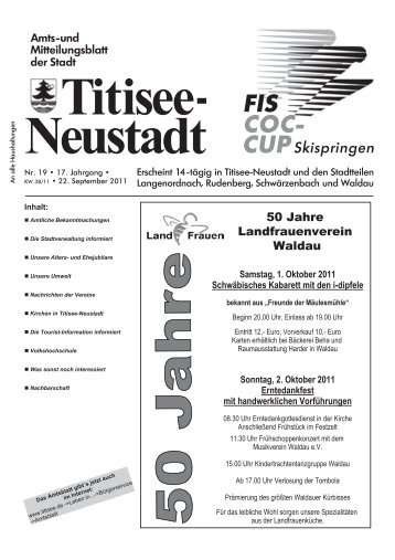 50 Jahre Landfrauenverein Waldau - Titisee-Neustadt