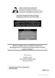 Quelles stratégies pour une Réforme induisant le ... - ADEA