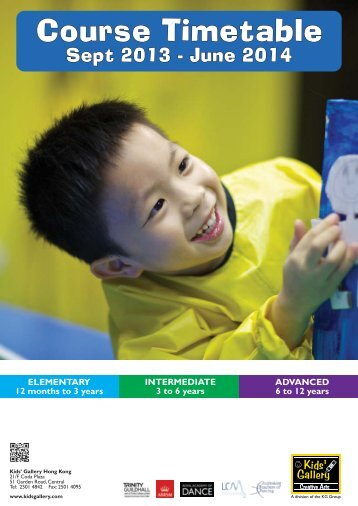 September courses information and timetable - Kids' Gallery