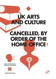 UK Arts and Culture: Cancelled, by Order of the Home ... - Live Art UK