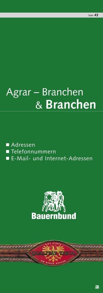 Branchen - Tiroler Bauernbund