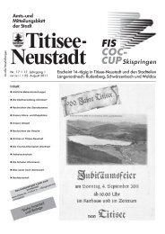Die Freibäder in Titisee-Neustadt erwarten Ihren Besuch