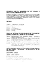 Ordenança activitats i instal·lacions de radiocomunicació