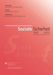 Soziale Sicherheit CHSS 2/2012 - Bundesamt für ...