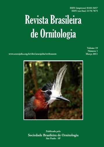 Capa 19(1) - fechada.indd - Sociedade Brasileira de Ornitologia