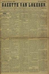 Zondag 27 November 1892. 49- Jaar N° 2559. ZETTE VAN LOKERE