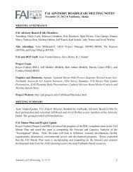 November 15, 2012 - Fairbanks Advisory Board Meeting Summary