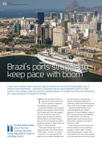 Brazil's ports struggle to keep pace with boom - Ashcroft & Associates