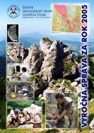 Výročná správa ŠGÚDŠ 2005 (pdf - 0,91 MB) - Štátny geologický ...