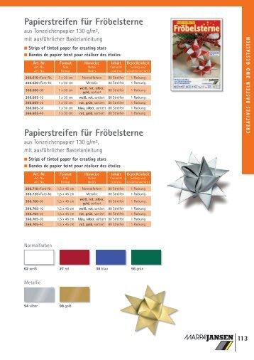Papierstreifen für Fröbelsterne Papierstreifen für ... - RAU+CO