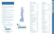 donatella's menu 13.5x8.5 - Donatella's Salon & Day Spa