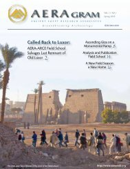 Spring 2010 - Ancient Egypt Research Associates