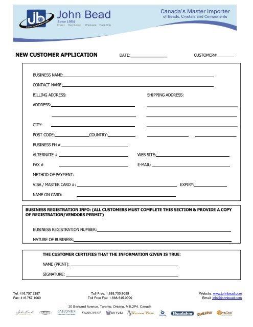 New Customer Application Template from img.yumpu.com