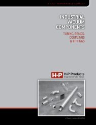 INDUSTRIAL VACUUM COMPONENTS - HP Products