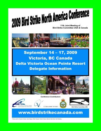 Conference Brochure 3 - Bird Strike North America Conference.
