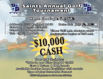 Saints Annual Golf Tournament - St. Stanislaus College Alumni ...
