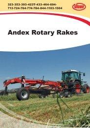 Andex Rotary Rakes - Edney Distributing Co. Inc.