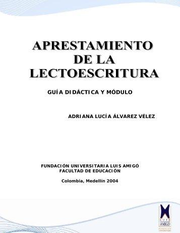 Aprestamiento a la Lectoescritura - Fundación Universitaria Luis ...