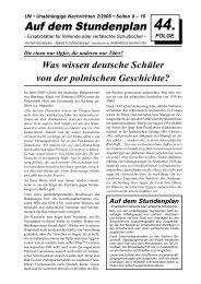 Was wissen deutsche Schüler von der polnischen Geschichte?