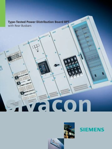 8PT Power Distribution Board Rear Busbars - Siemens