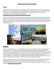 Chesapeake Bay Area - Churchill Yacht Partners