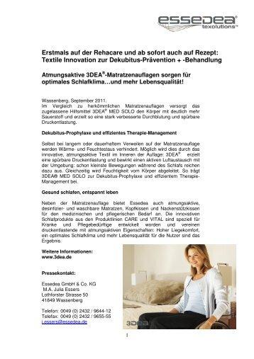 Textile Innovation zur Dekubitus-Prävention + -Behandlung
