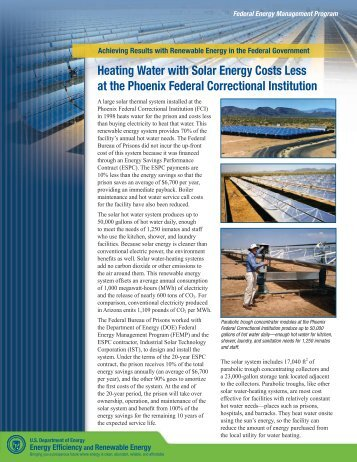 Heating Water with Solar Energy Costs Less at the Phoenix Federal ...